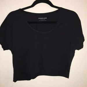 Everlane Scoop Neck Tee Black